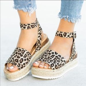 Shoes - 🔥🔥 Last Two🔥🔥Cheetah Print Espadrilles Sandals